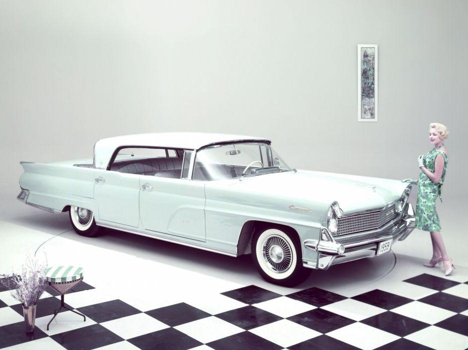 1959 Lincoln Continental Mark-IV Landau Hardtop Sedan 75A retro luxury wallpaper