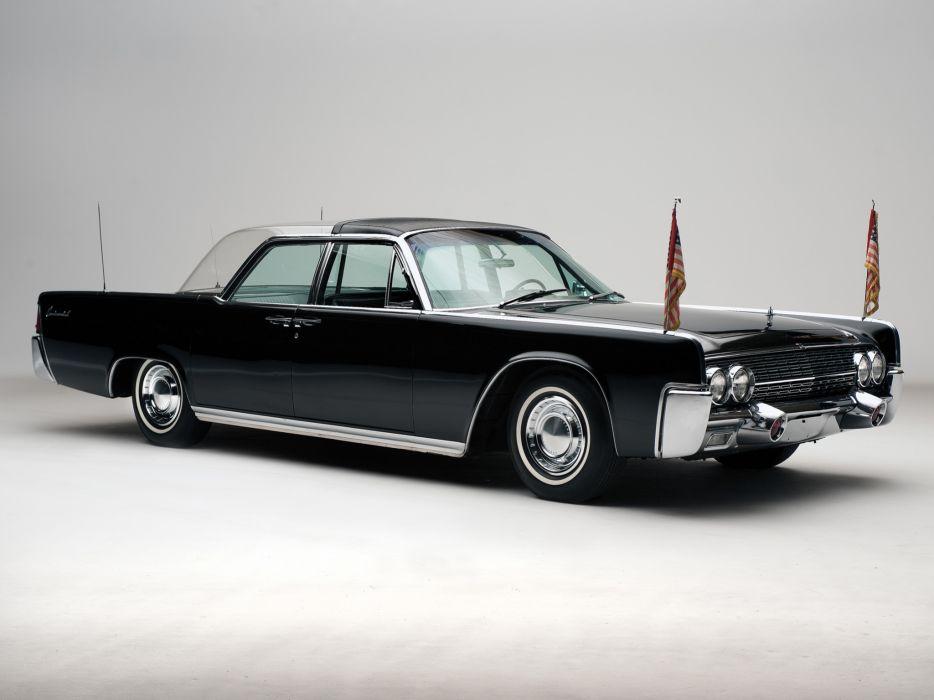 1962 Lincoln Continental Bubbletop Kennedy Limousine classic luxury  fs wallpaper