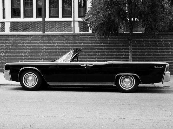 1963 Lincoln Continental Convertible classic luxury f wallpaper