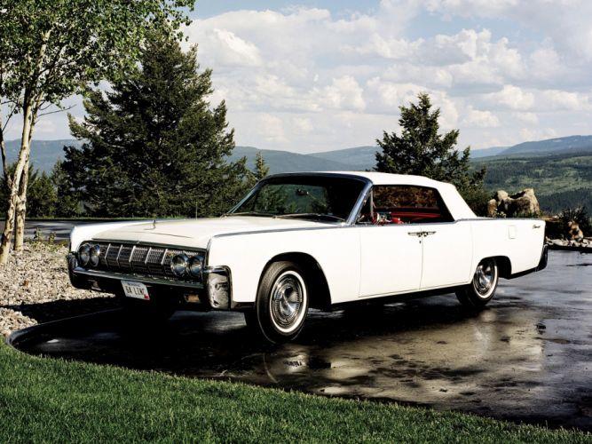 1964 Lincoln Continental Convertible 74D wallpaper