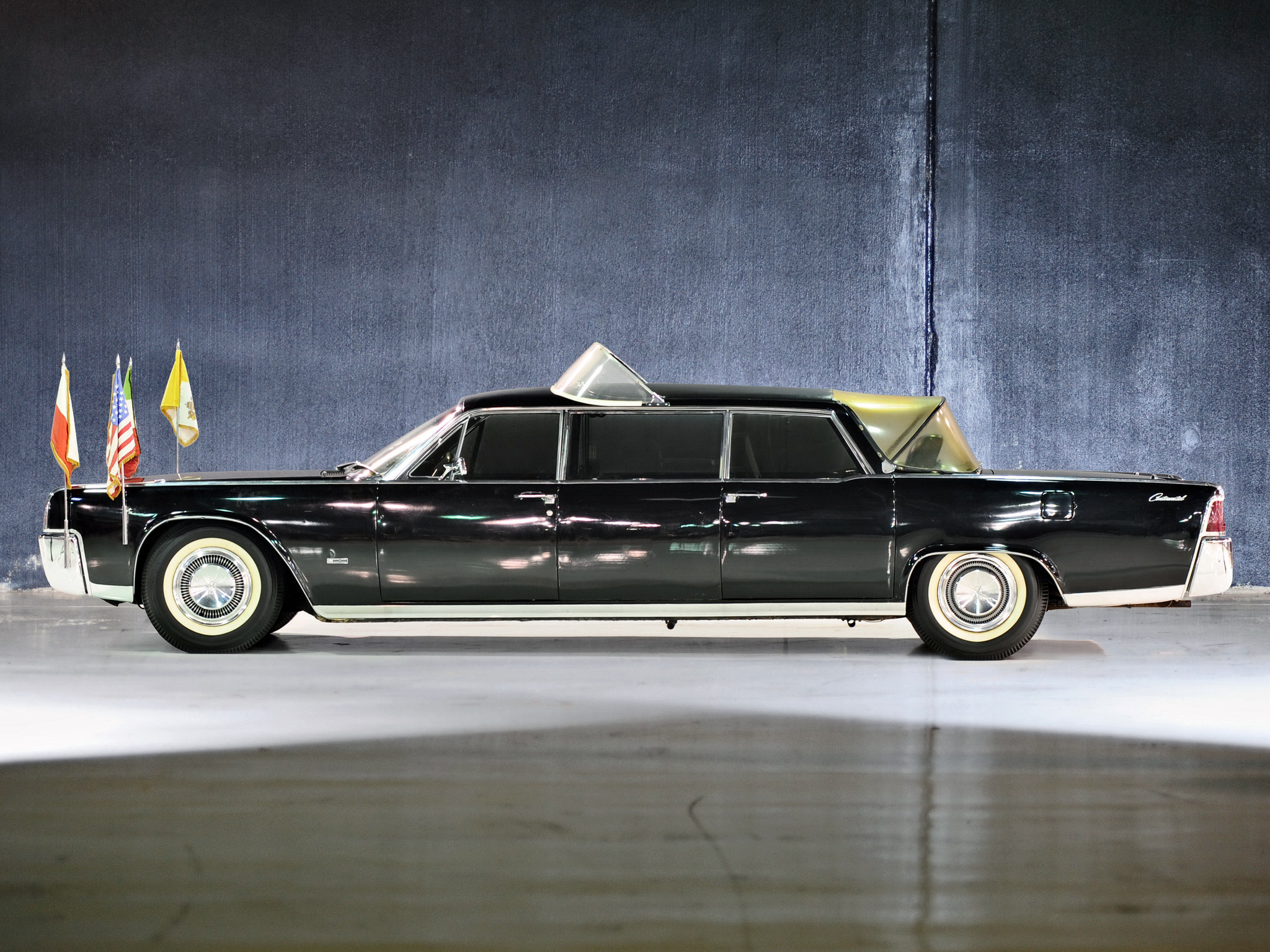 1964 lincoln continental limousine popemobile by lehmann peterson classic luxury wallpaper. Black Bedroom Furniture Sets. Home Design Ideas