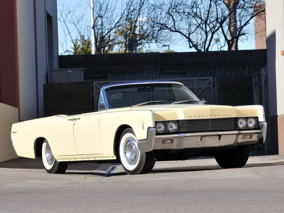 1966 Lincoln Continental Convertible 74A classic luxury    h wallpaper