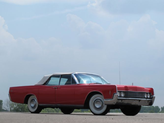 1966 Lincoln Continental Convertible 74A classic luxury wallpaper