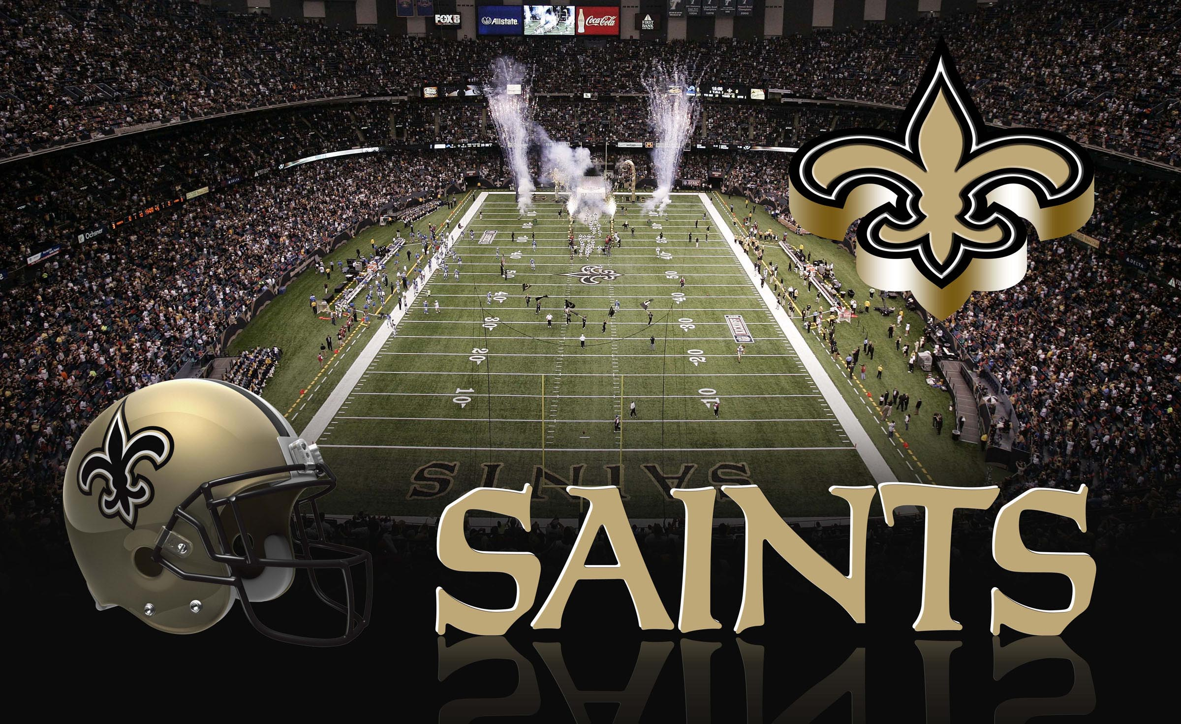 NEW ORLEANS SAINTS nfl football f wallpaper | 2400x1471 ...