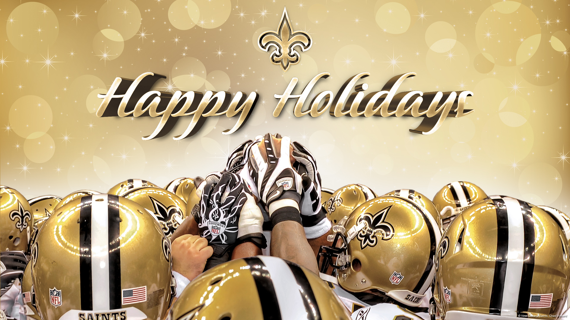 New Orleans Saints Nfl Football Christmas New Year Holiday