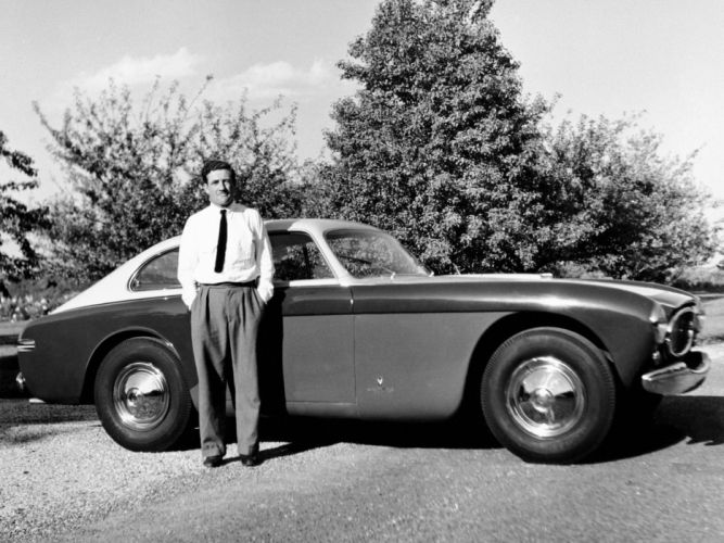 1951 Cunningham C3 Continental Coupe Vignale retro supercar b-w wallpaper