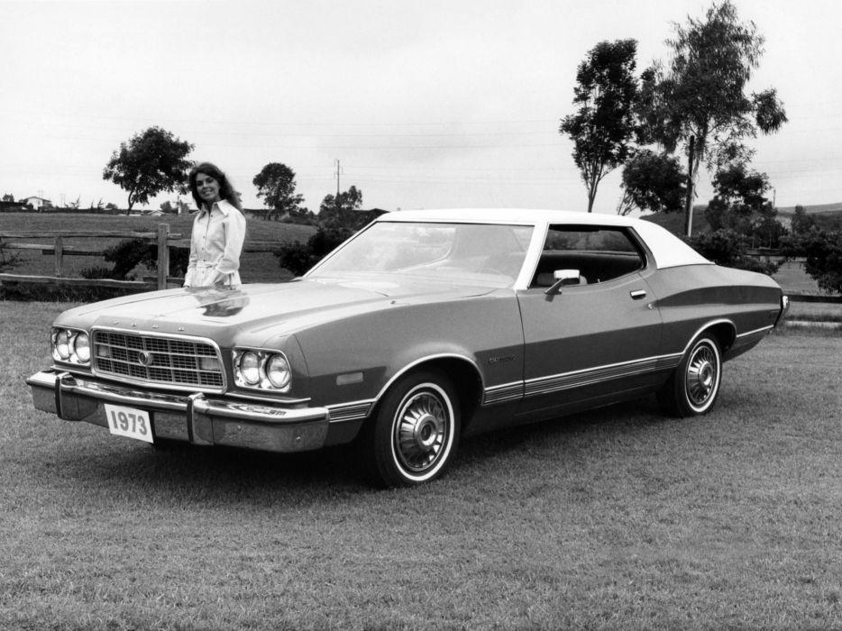 1973 Ford Gran Torino Hardtop Coupe 65D classic wallpaper