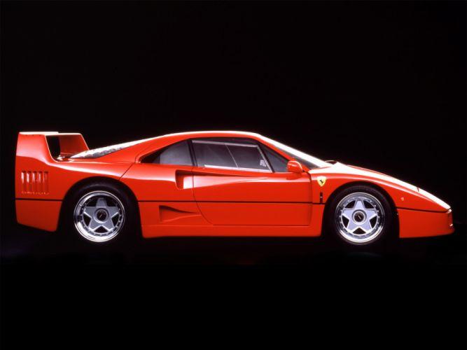 1987 Ferrari F40 classic supercar g wallpaper