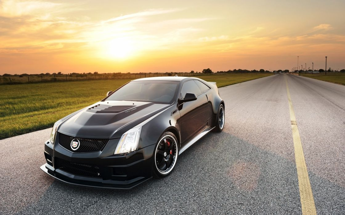2012 Hennessey Cadillac VR1200 Twin Turbo Coupe tuning muscle    g wallpaper