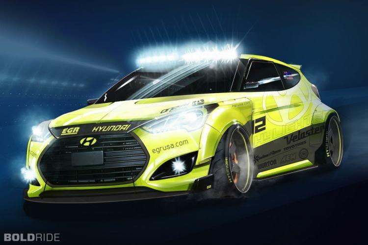 2013 Hyundai Veloster Turbo Yellowcake Night Racer Concept race racing tuning wallpaper