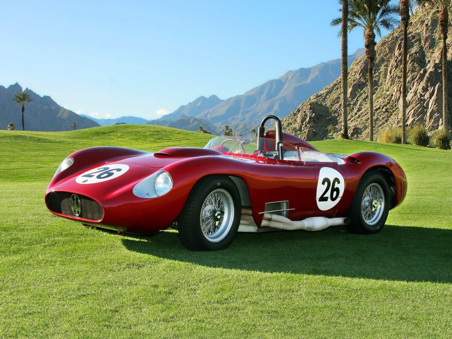 1956 Maserati 450S race racing supercar retro   f wallpaper