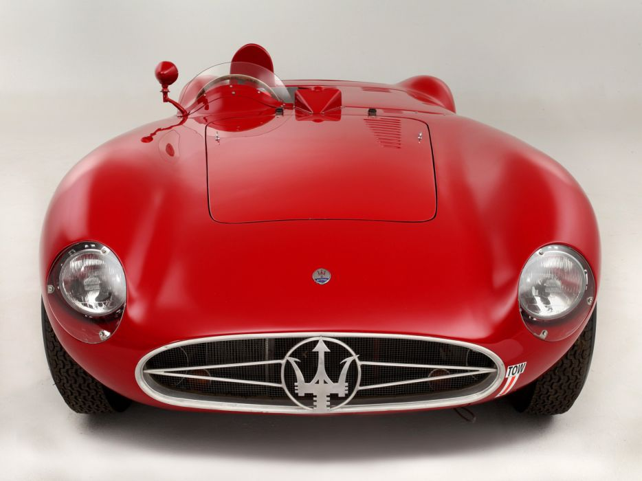 1956 Maserati 300S race racing supercar retro wallpaper