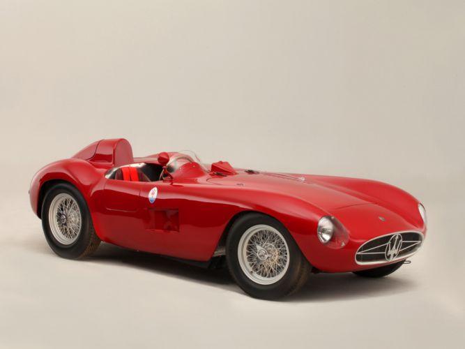 1956 Maserati 300S race racing supercar retro h wallpaper