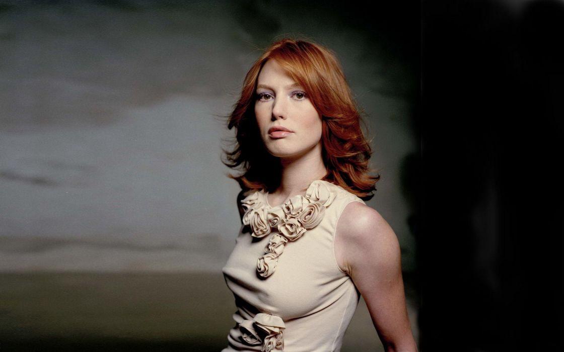 Woman Girl Alicia Witt Redhead wallpaper