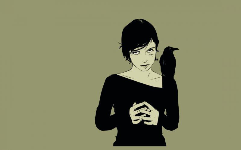 Girl Crow wallpaper