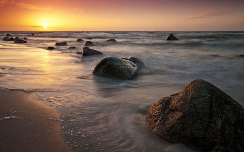 Ocean Cliffs Shore wallpaper