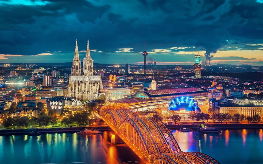 Cityscape Cologne Germany wallpaper