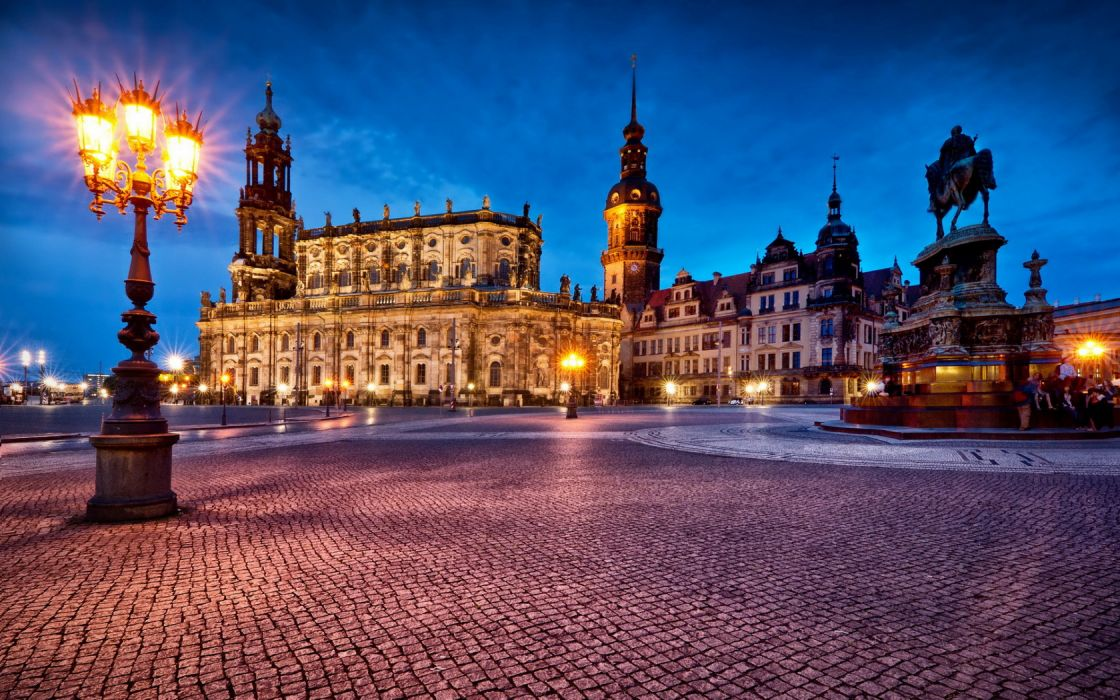 Cityscape Dresden Germany wallpaper