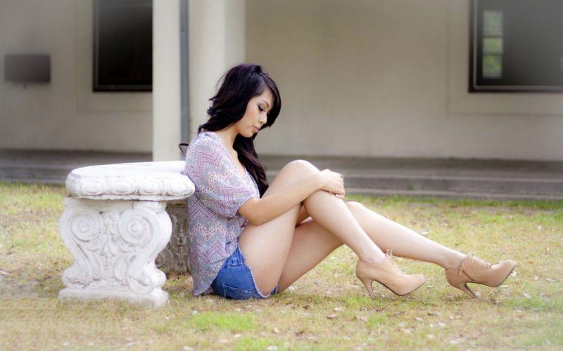 Woman Girl Beauty Asian High Heels wallpaper