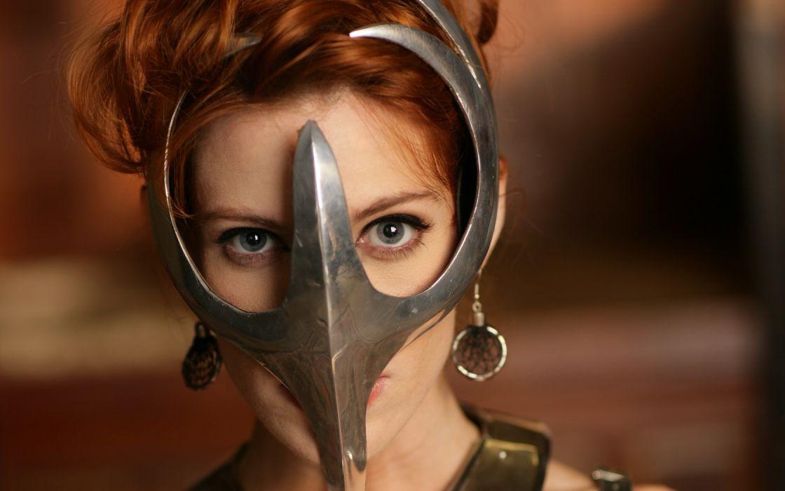 Woman Girl Beauty Mask Roxette wallpaper