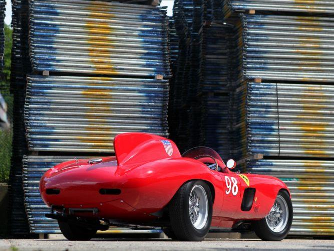 1955 Ferrari 857 Sport Scaglietti Spider 0588M race racing supercar retro wallpaper