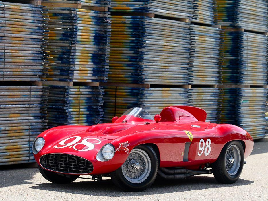 1955 Ferrari 857 Sport Scaglietti Spider 0588M race racing supercar retro   d wallpaper