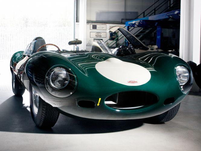 1955 Jaguar D-Type race racing supercar retro f wallpaper