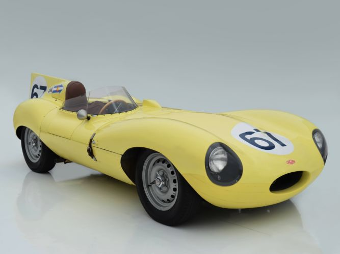 1955 Jaguar D-Type race racing supercar retro f wallpaper