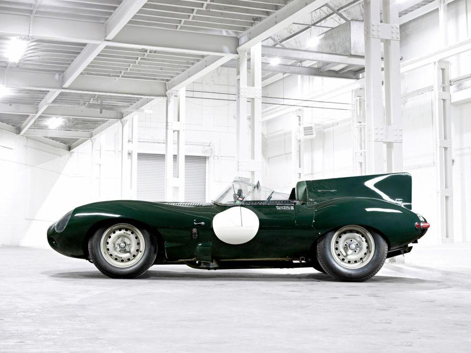1955 Jaguar D-Type race racing supercar retro    ge wallpaper