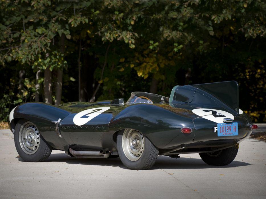1955 Jaguar D-Type race racing supercar retro    gr wallpaper