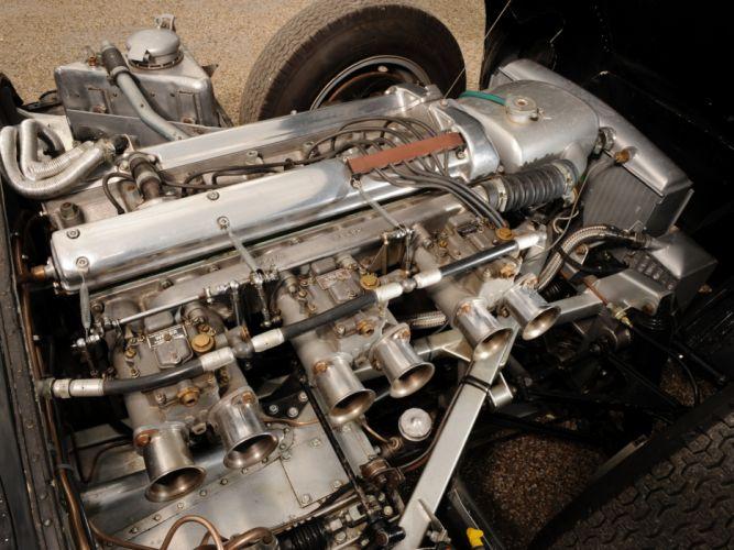 1955 Jaguar D-Type race racing supercar retro engine f wallpaper