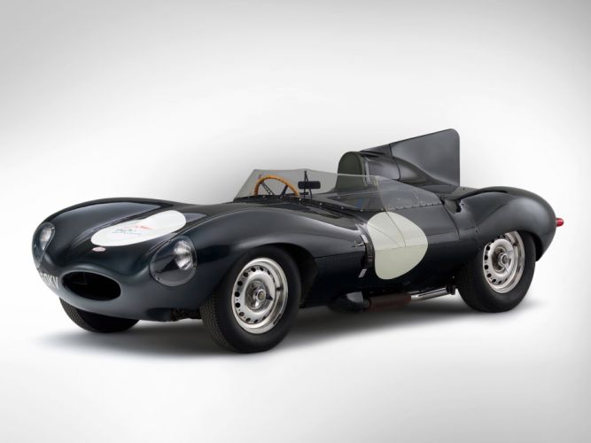 1955 Jaguar D-Type race racing supercar retro fs wallpaper