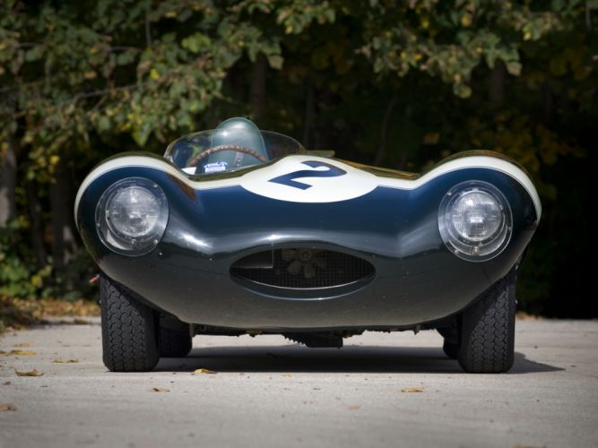 1955 Jaguar D-Type race racing supercar retro gf wallpaper
