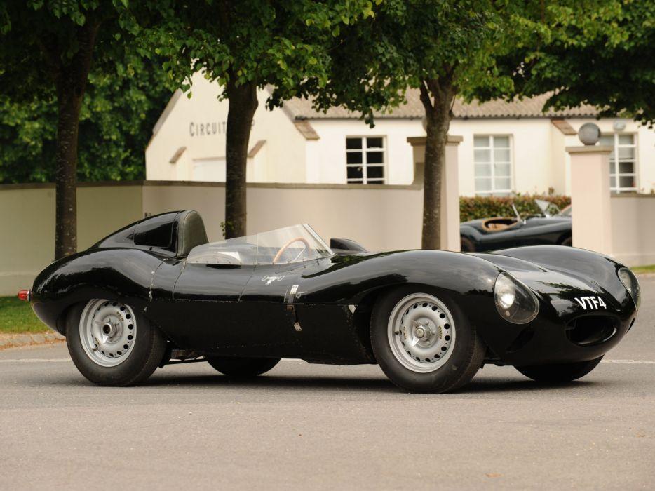 1955 Jaguar D-Type race racing supercar retro   fs wallpaper