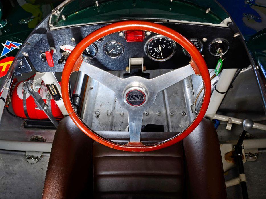 1956 Cooper Bobtail Climax type-39 race rascing supercar retro interior     g wallpaper