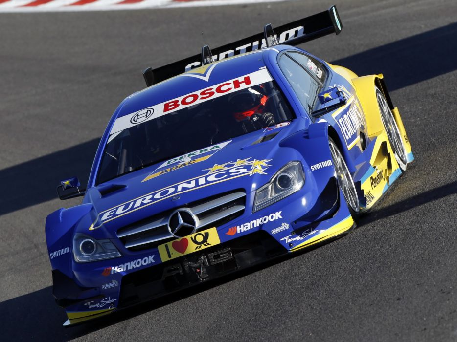 2012 Mercedes Benz C AMG DTM C204 race racing    h wallpaper