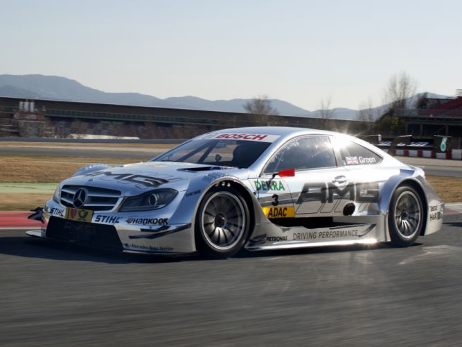 2012 Mercedes Benz C AMG DTM C204 race racing fb wallpaper