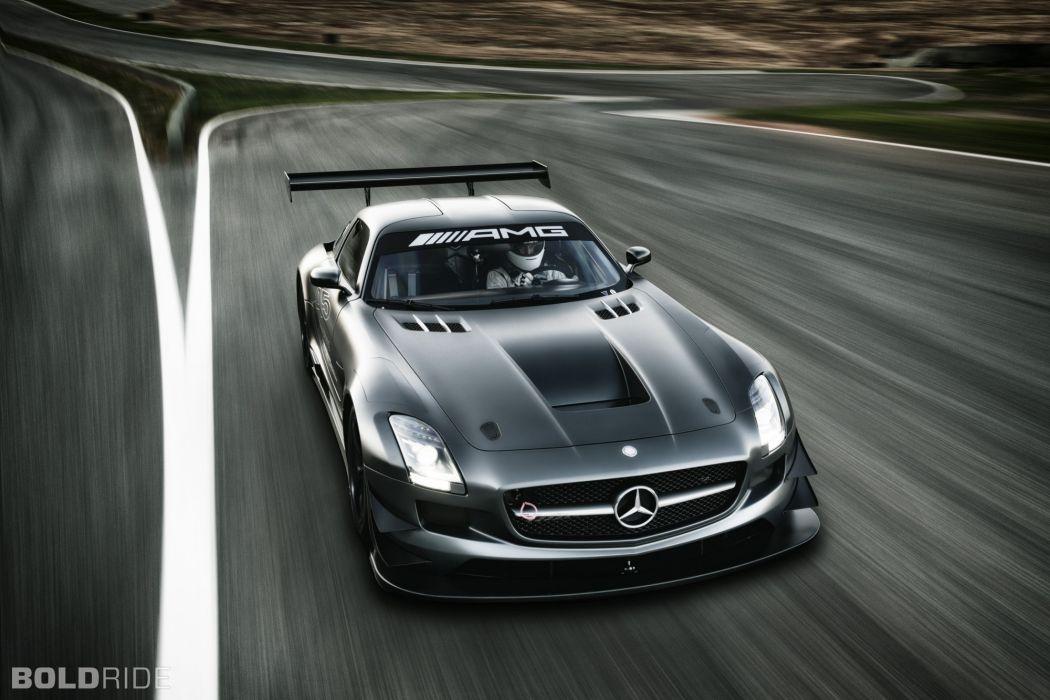 2013 Mercedes Benz SLS AMG GT3 race racing supercar  mh wallpaper