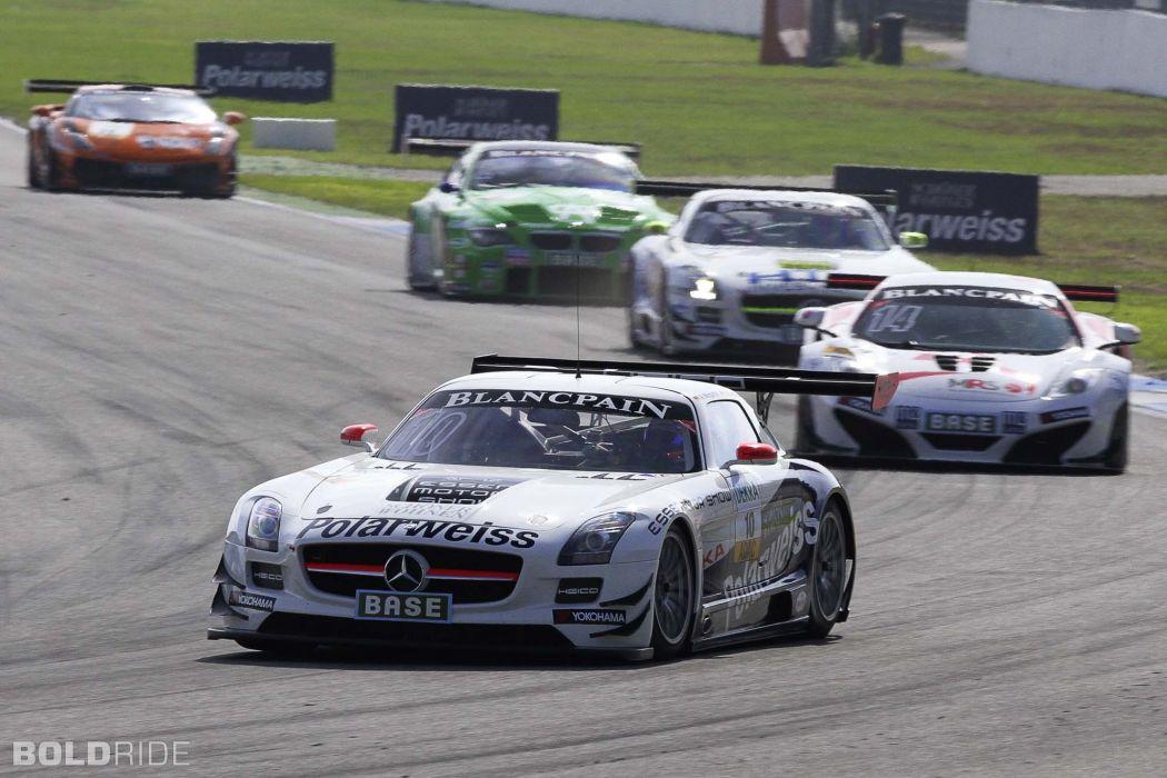2013 Mercedes Benz SLS AMG GT3 race racing supercar  t wallpaper