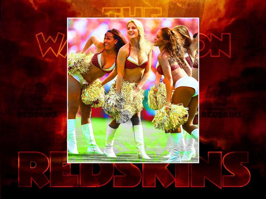 WASHINGTON REDSKINS nfl football cheerleader  d wallpaper