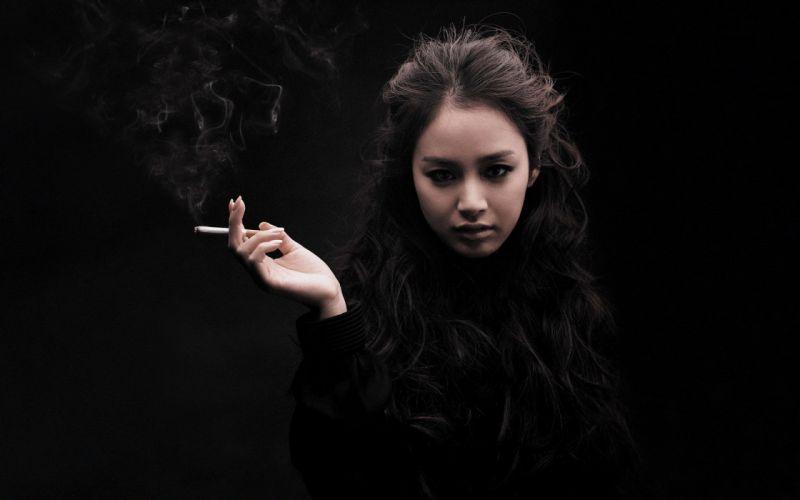 Girl Smoking wallpaper