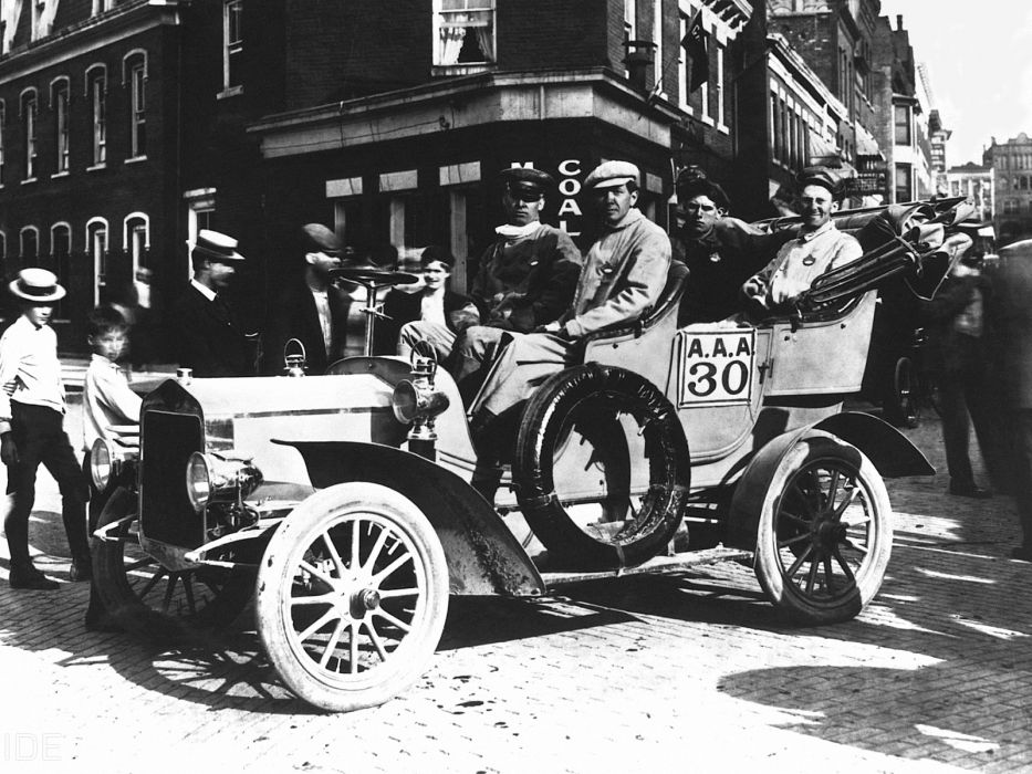 1906 Buick Model-F Touring retro race racing wallpaper