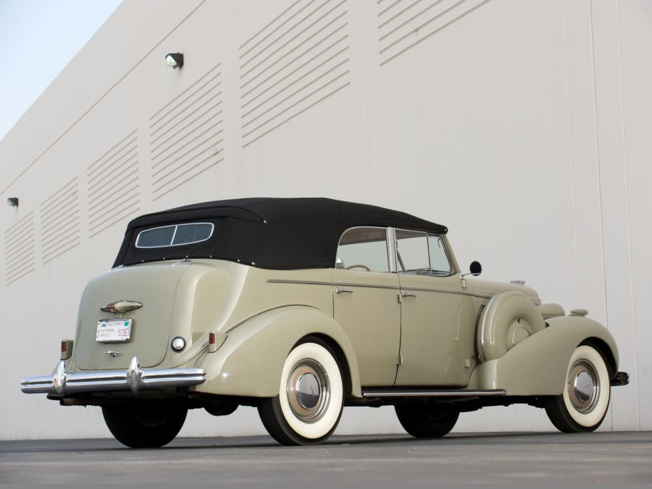1937 Buick Roadmaster Convertible Sedan (80) retro  h wallpaper