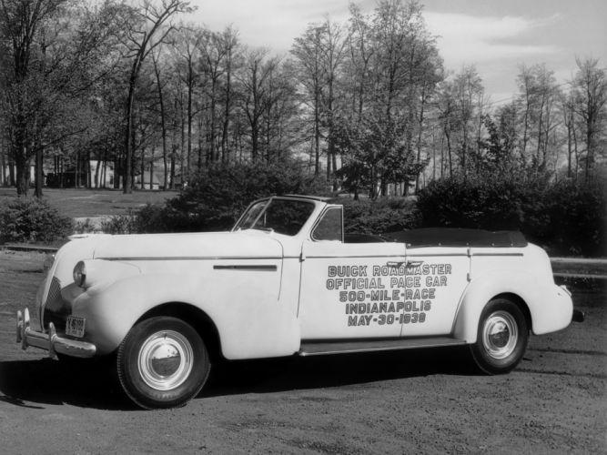1939 Buick Roadmaster Sport Phaeton Trunk Back Indy 500 Pace Car (81C) race racing retro wallpaper