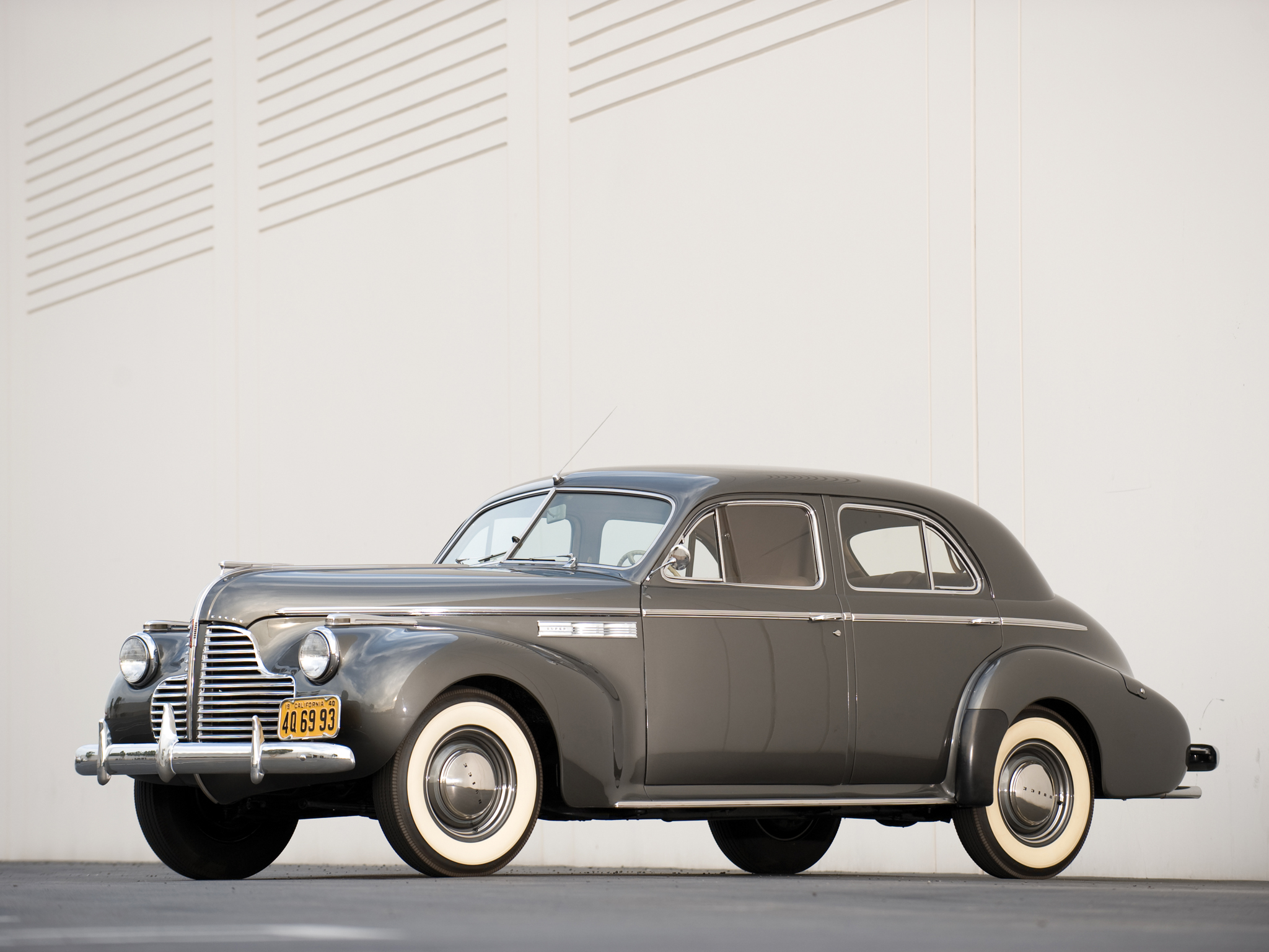 1940 buick super 4 door sedan 51 retro wallpaper