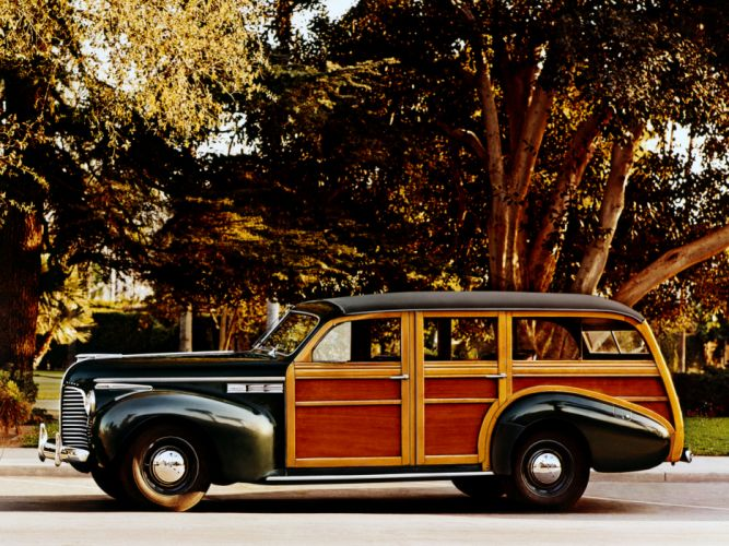 1940 Buick Super Estate Wagon (50) stationwagon retro wallpaper