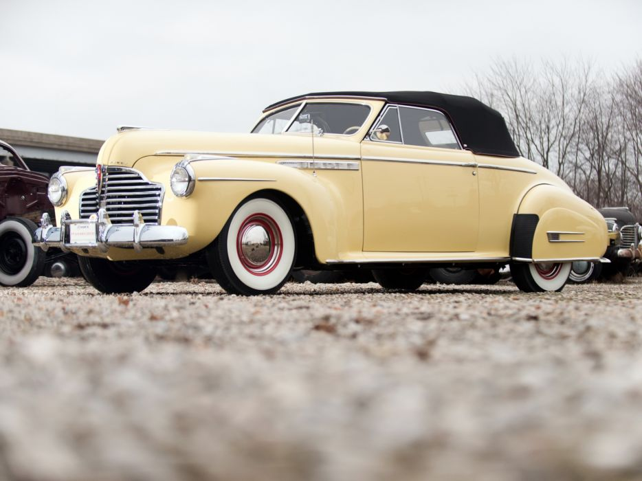 1941 Buick Roadmaster Convertible Coupe (76C) retro luxury wallpaper