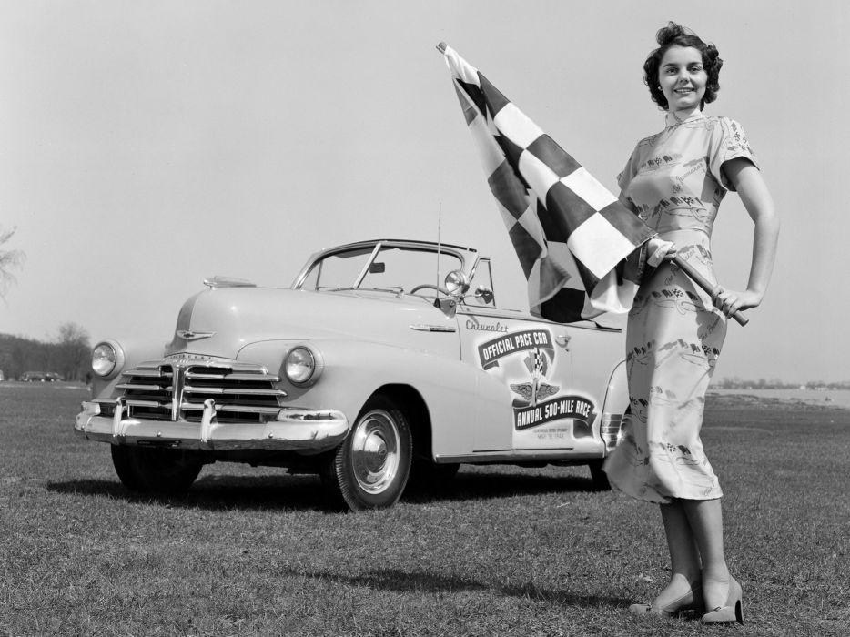 1948 Chevrolet Fleetmaster Convertible Indy 500 Pace Car race racing retro wallpaper