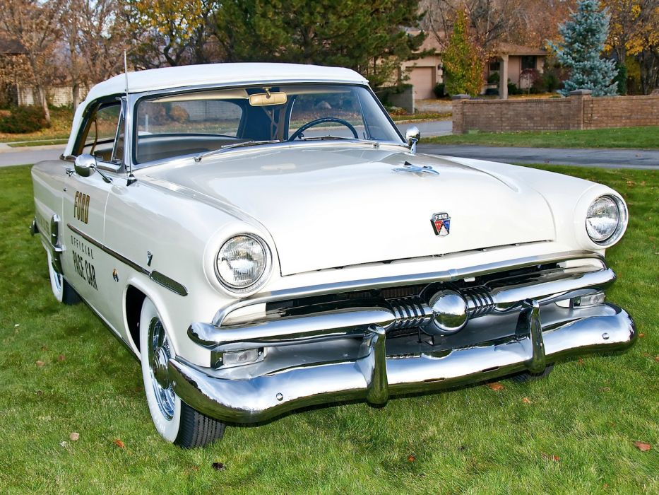 1953 Ford Crestline Convertible Indy 500 Pace Car 76B race racing retro wallpaper