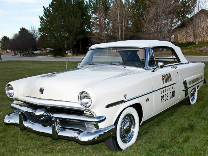 1953 Ford Crestline Convertible Indy 500 Pace Car 76B race racing retro e wallpaper